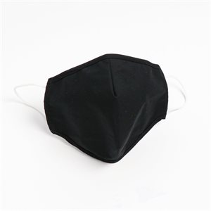 Washable & Reusable 100% Cotton Masks Black Pack of 5