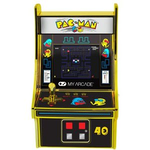"DreamGear 6.75"" COLLECTIBLE RETRO PAC-MAN 40TH ANNIVERSARY MICRO PLAYER-Gold/Yellow"