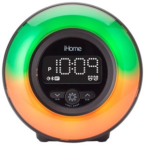 iHome iBT295 POWERCLOCK GLOW Bluetooth Color Changing Alarm Clock