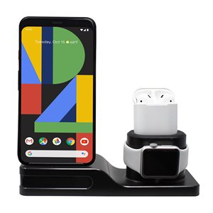 Aduro Tech Theory - QI CERTIFIED Charging Stand,supports all series appale watch,iphones & air pods