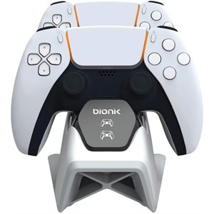 bionik POWER STAND FOR PS5 Dual controller charging tower with power adapter - BLK/White