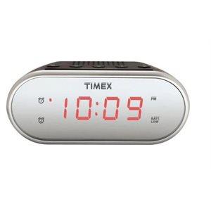 TIMEX T124 Dual Alarm Clock with Mirror Finish-Black *BILINGUAL*
